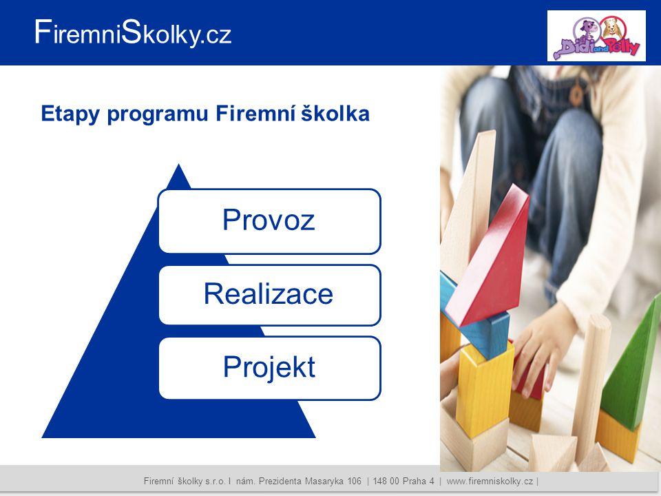 Conel Communication | Vajdova 1029/1 | 102 00 Praha 10 | www.conelcom.cz | info@conelcom.cz | +420 603 236 003 | +420 724 119 946 Etapy programu Firemní školka Firemní školky s.r.o.