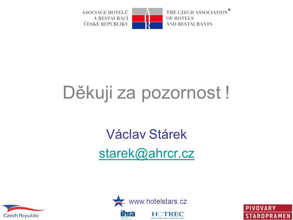Děkuji za pozornost ! Václav Stárek starek@ahrcr.cz