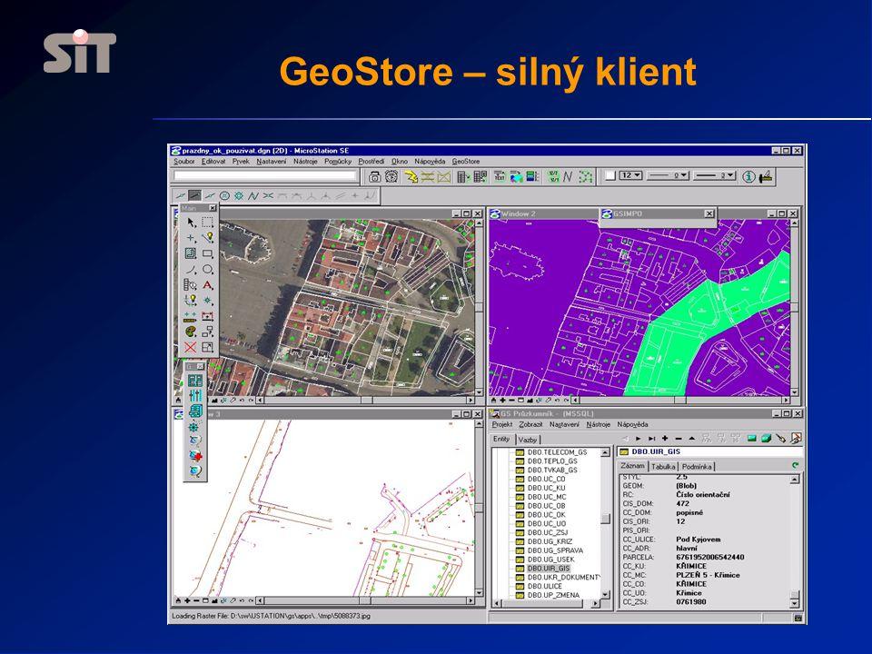 GeoStore – silný klient