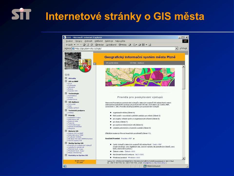 Internetové stránky o GIS města