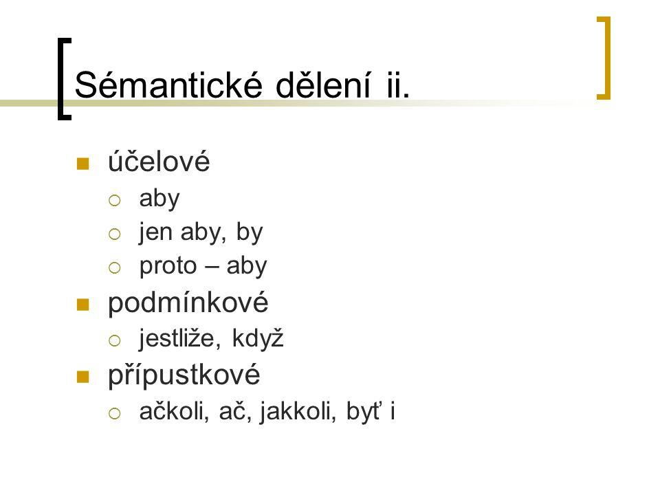 Sémantické dělení ii.