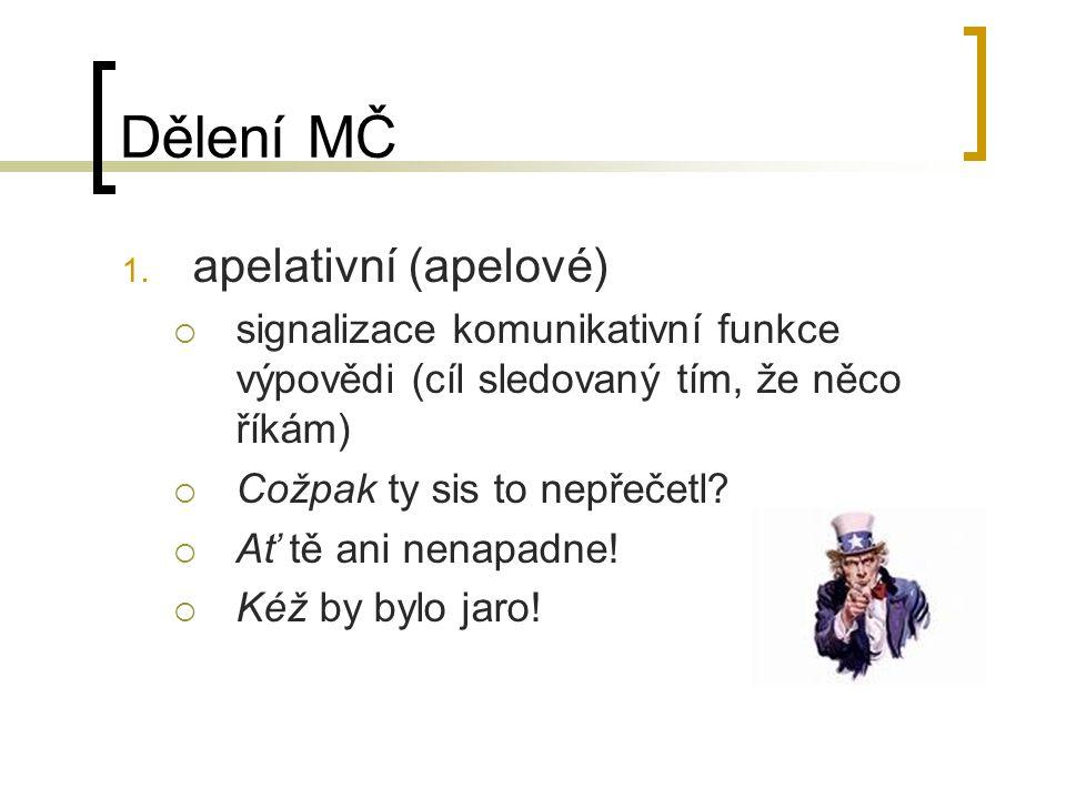 Dělení MČ 1.