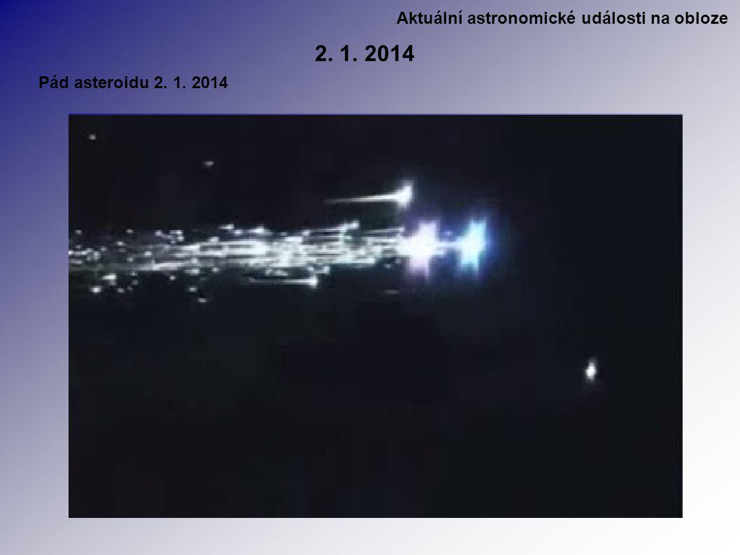 Aktuální astronomické události na obloze 2. 1. 2014 Pád asteroidu 2. 1. 2014