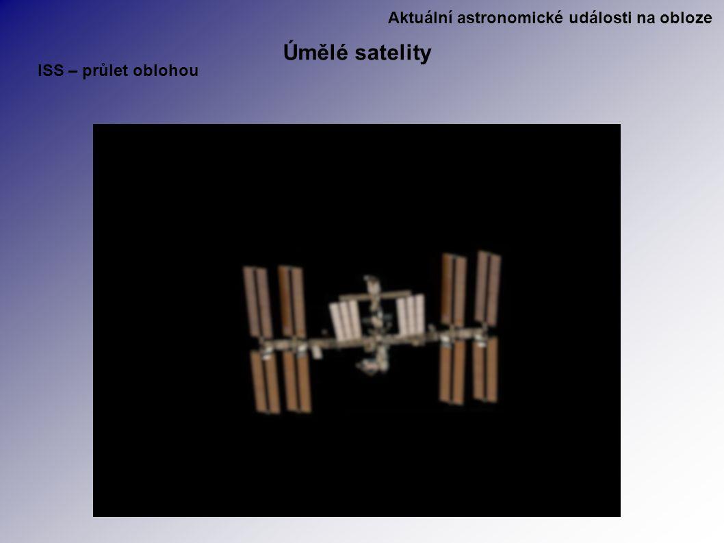 Aktuální astronomické události na obloze Úmělé satelity ISS – průlet oblohou
