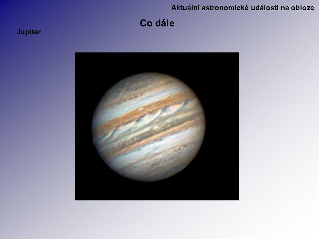 Aktuální astronomické události na obloze Co dále Jupiter