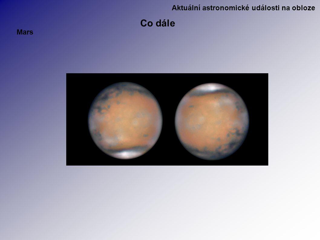Aktuální astronomické události na obloze Co dále Mars
