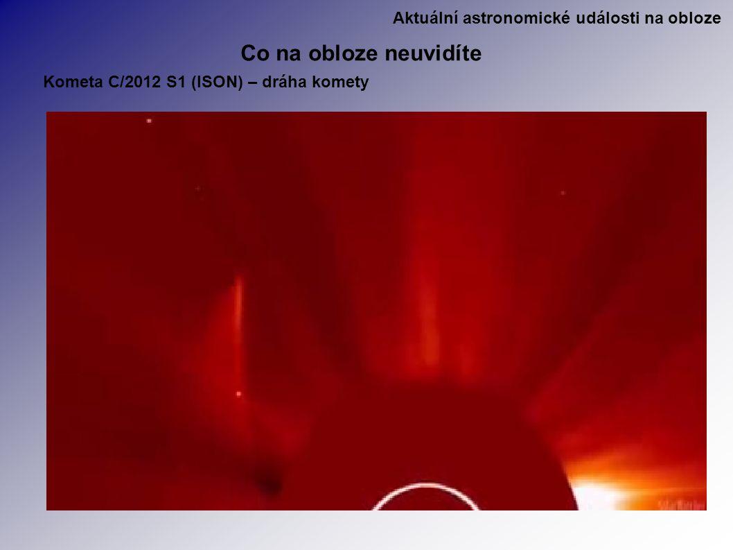 Aktuální astronomické události na obloze Co na obloze neuvidíte Kometa C/2012 S1 (ISON) – dráha komety