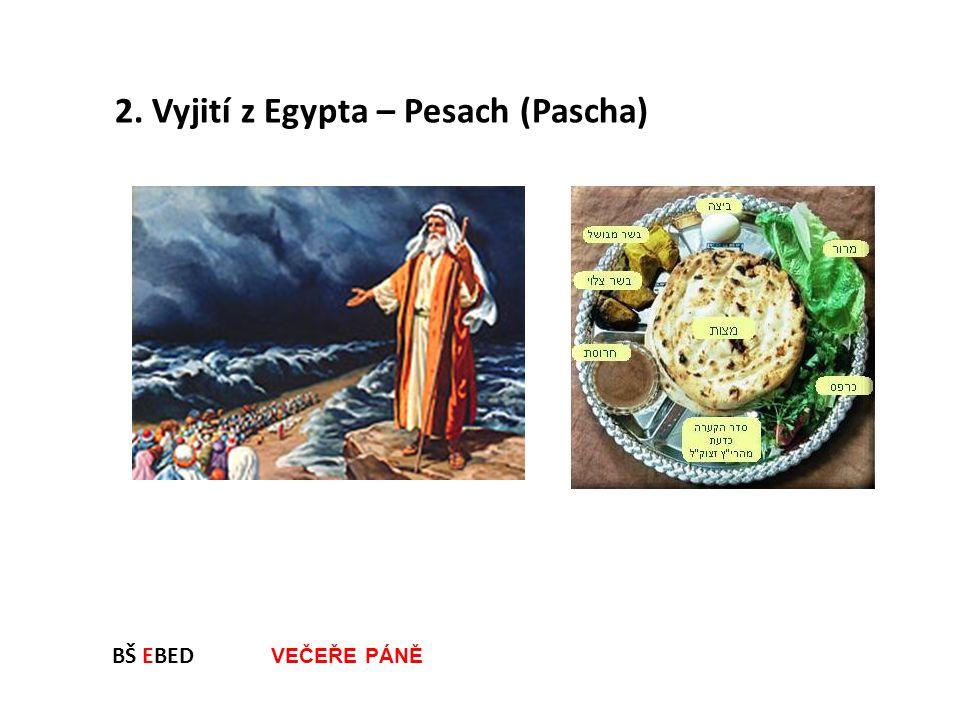 BŠ EBED VEČEŘE PÁNĚ 2. Vyjití z Egypta – Pesach (Pascha)