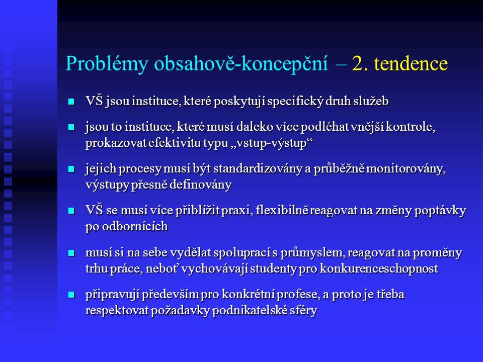 Problémy obsahově-koncepční – 2.