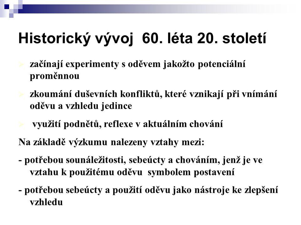 Historický vývoj 60.léta 20.