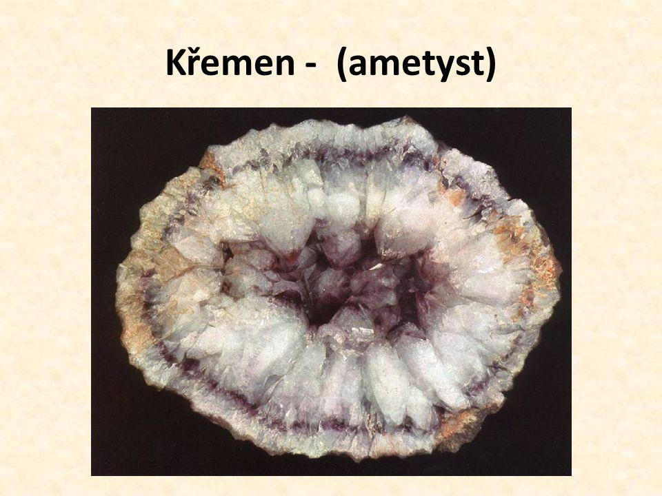 Křemen - (ametyst)