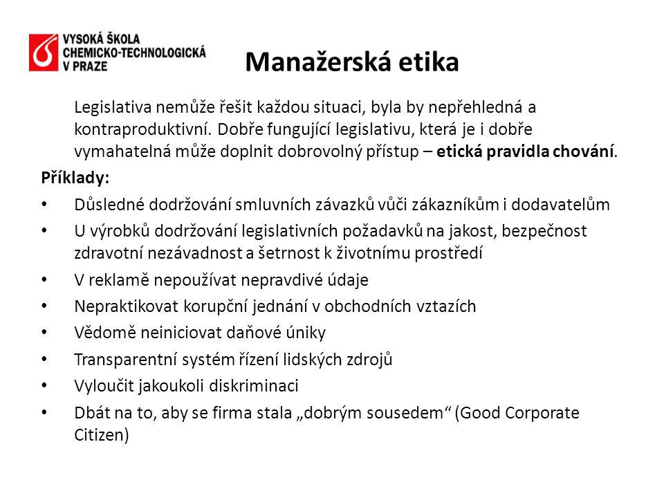 Legislativa nemůže řešit každou situaci, byla by nepřehledná a kontraproduktivní.
