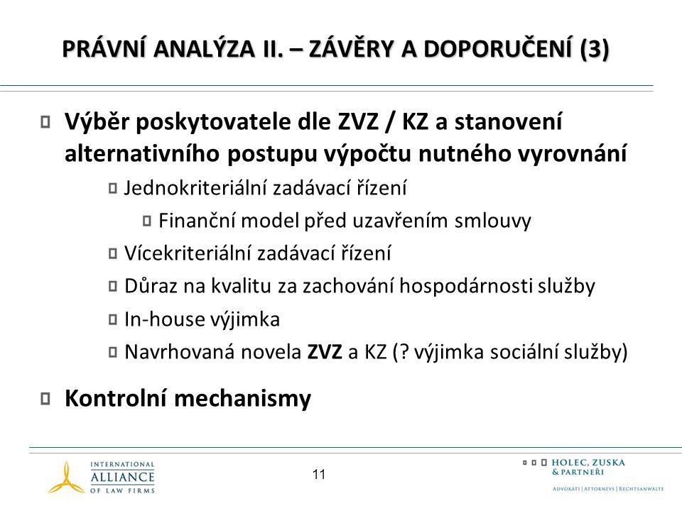 PRÁVNÍ ANALÝZA II.