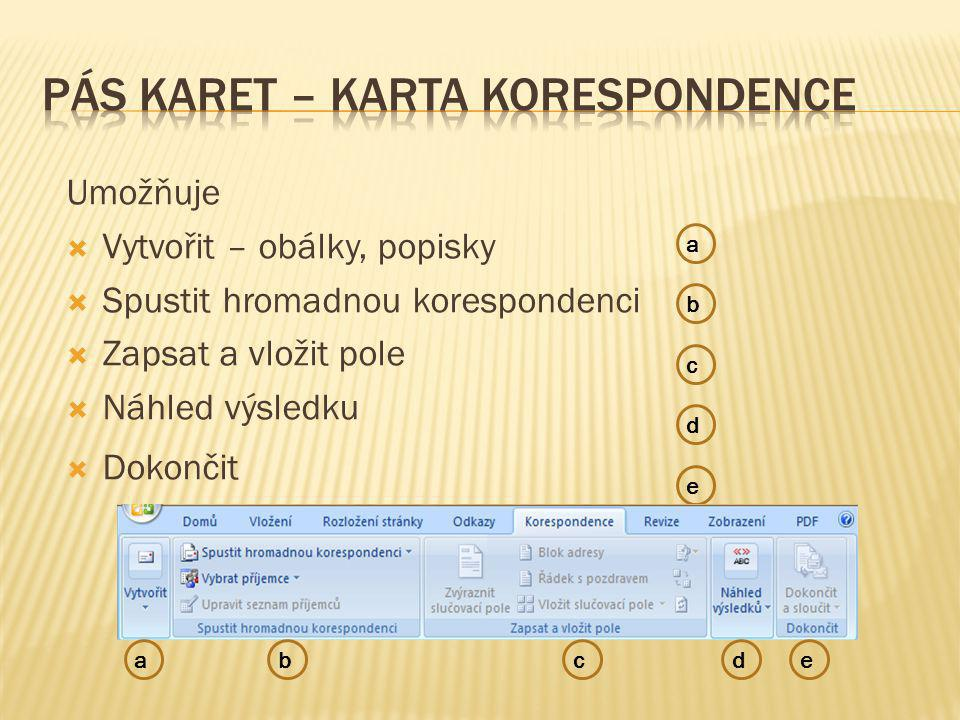 Obsahuje skupiny:  Kontrola pravopisu – umožní kontrolu pravopisu, nahradit slova, přeložit text do jiného jazyka, nastavit jazyk, zjistit počet slov, odstavců  Komentář – umožní vložit a spravovat  Sledování – lze sledovat změny provedené v dokumentu.