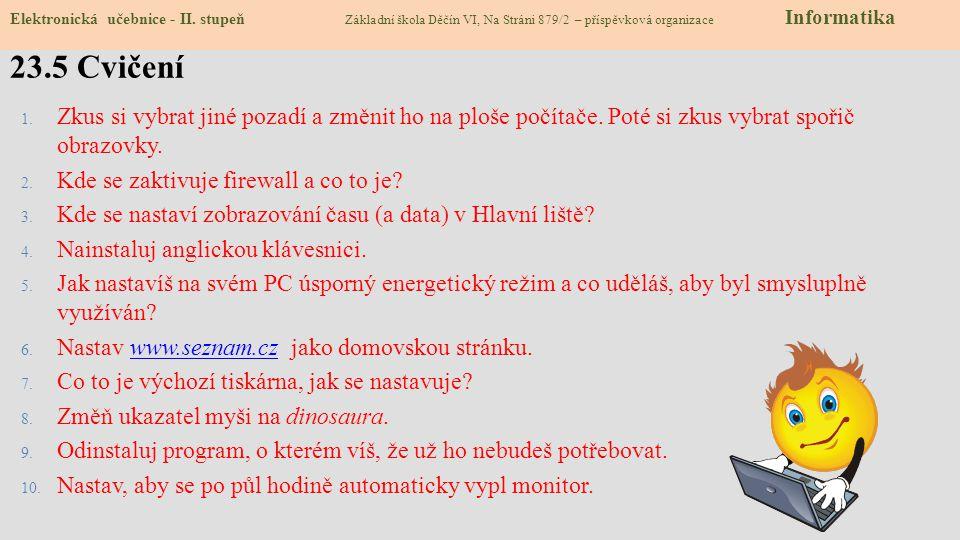 23.5 Cvičení Elektronická učebnice - II.