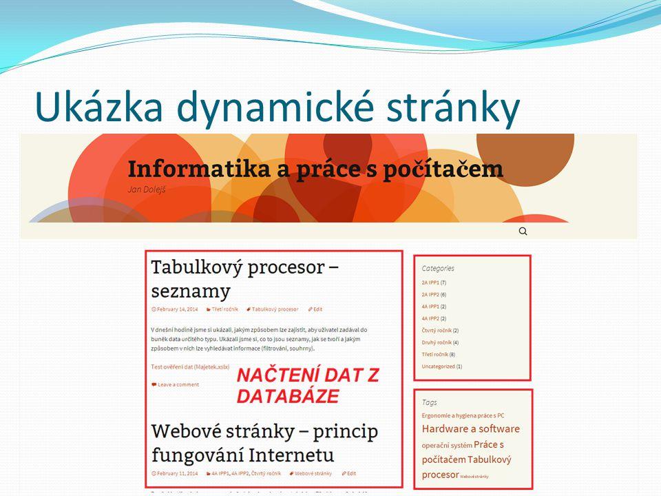Ukázka dynamické stránky