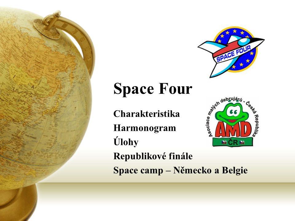 Space Four Charakteristika Harmonogram Úlohy Republikové finále Space camp – Německo a Belgie