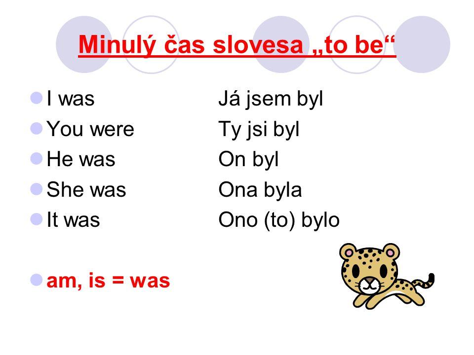 """Minulý čas slovesa """"to be We wereMy jsme byli You wereVy jste byli They wereOni byli are = were They were at the park on Sunday afternoon."""