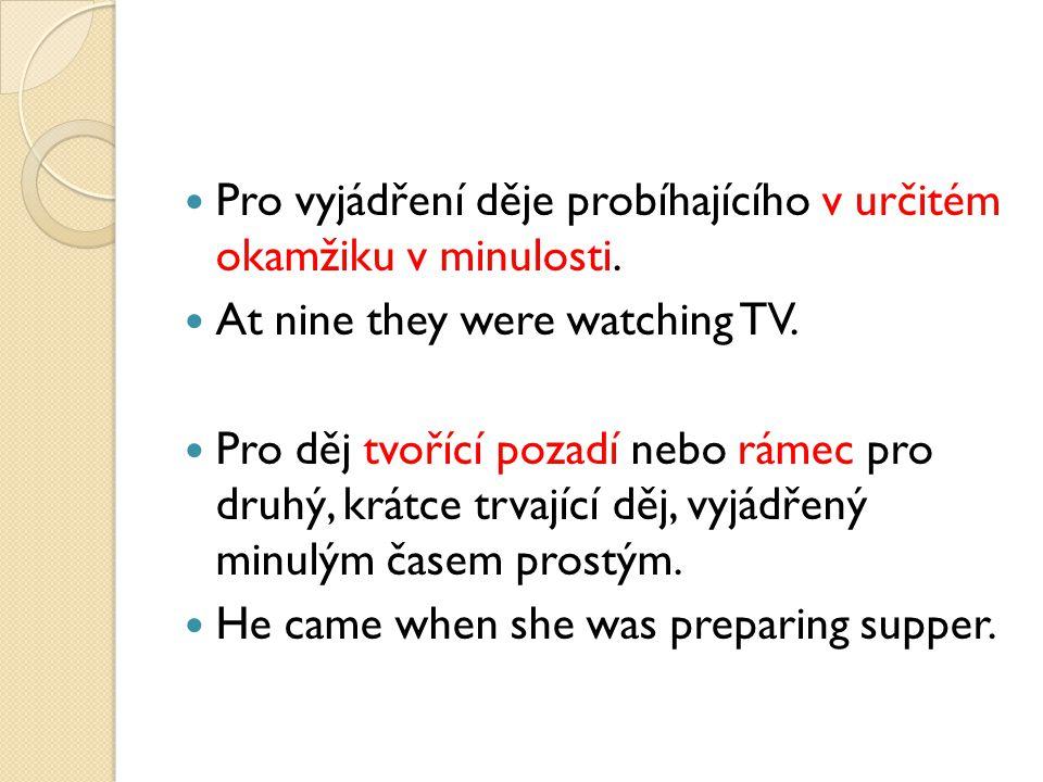 OTÁZKA A ZÁPOR OTÁZKA Was she cooking….Were they watching….