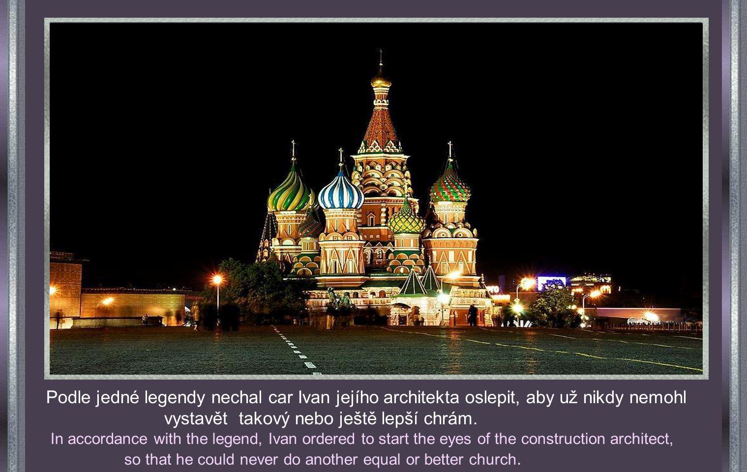 CATEDRAL DE SAN BASILIO MOSCU. Katedrála sv. Basila v Moskvě Byla zbudována v r. 1555 nařízením cara Ivana Hrozného. Je perlou světové architektury Co