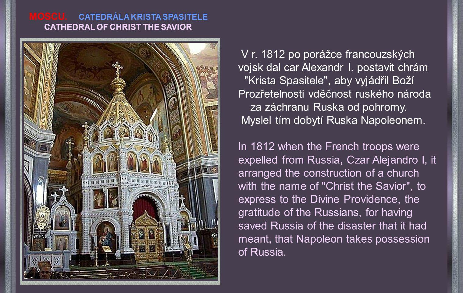Popularly known like Cathedral of San Basilio, her name is, Cathedral of the Intercession of the God's Mother Obecně je známa jako katedrála sv. Basil