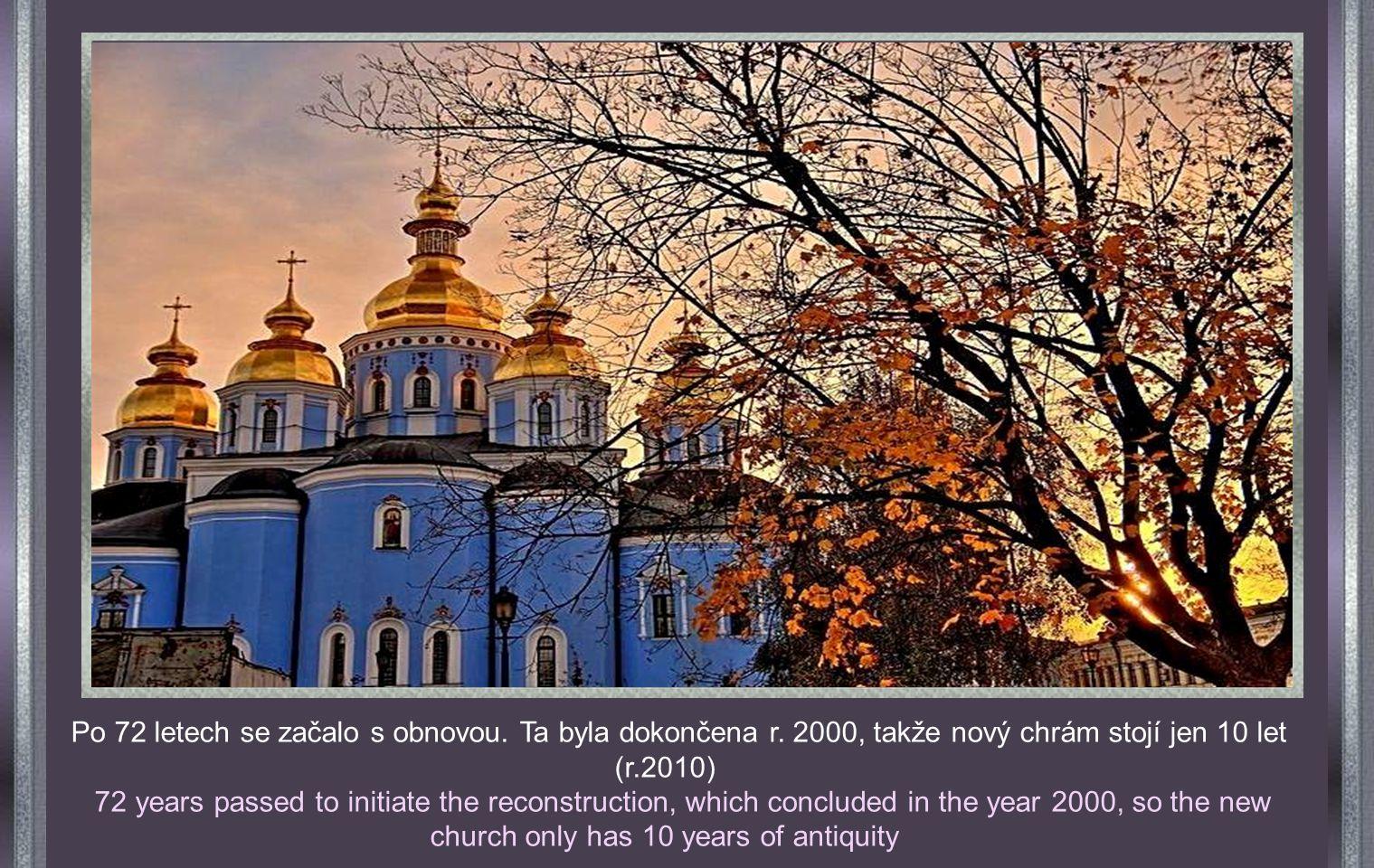 Ukrajina. Kyjev. Katedrála sv. Michaela KIEV RUSSIA. Cathedral of San Michel Rokem 1919 začíná velmi dramatické období, kdy sovětský režim zabíral a n