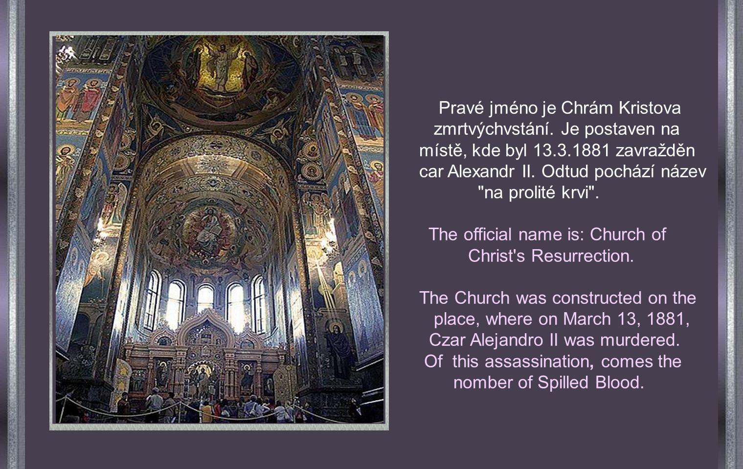 Petrohrad Chrám Spasitele na prolité krvi.Church of the Savior on the Spilled Blood.