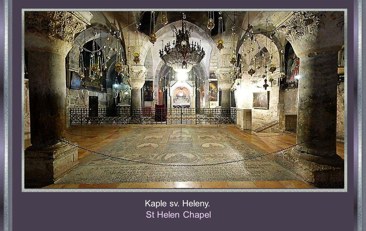 JERUSALEM Jeruzalem Chrám Božího hrobu, nejuctívanější chrám křesťanů. Church of the Holy Sepulchre, the most venerated Church of the Christianity