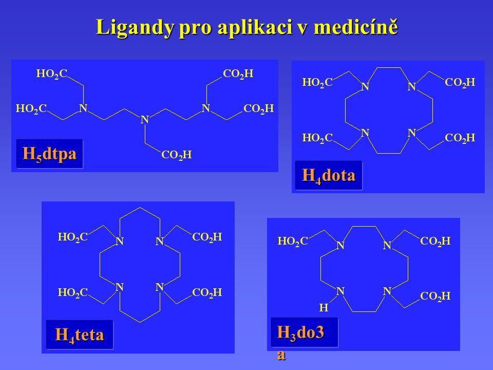 Ligandy pro aplikaci v medicíně H 5 dtpa H 4 dota H 3 do3 a H 4 teta