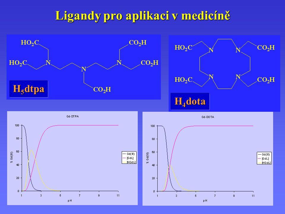 Ligandy pro aplikaci v medicíně H 5 dtpa H 4 dota