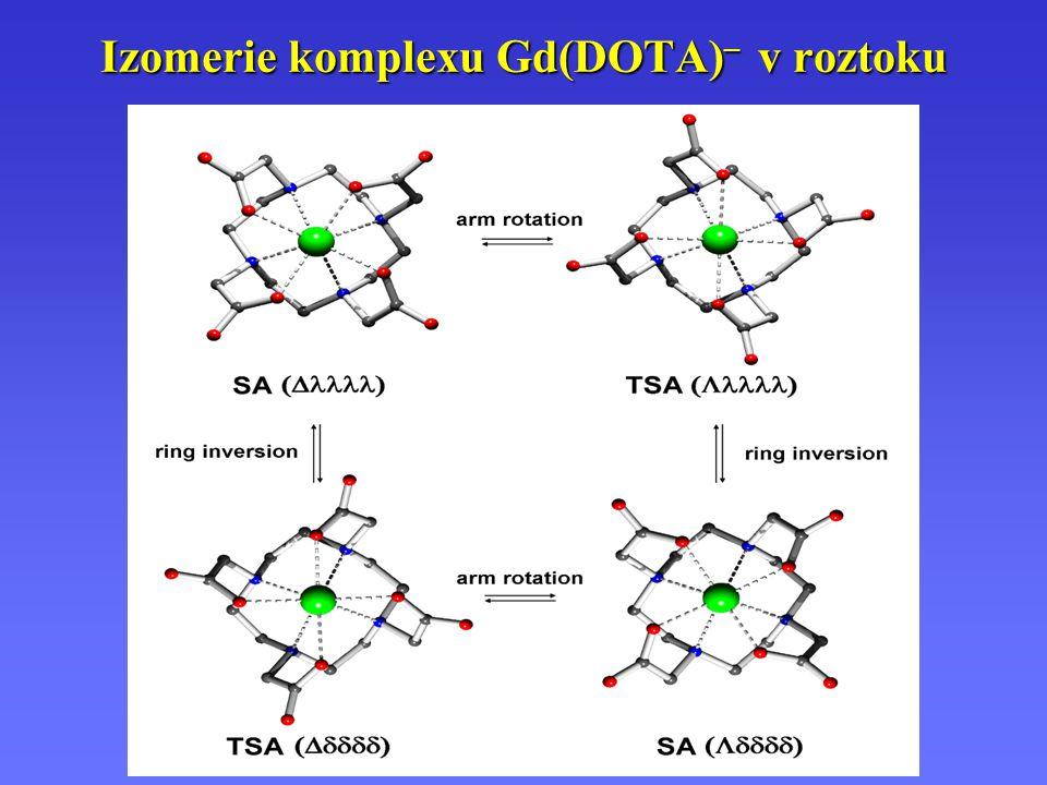 Izomerie komplexu Gd(DOTA) – v roztoku