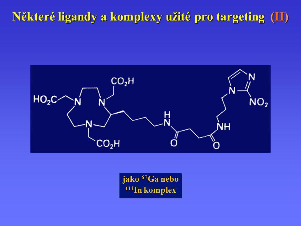 Některé ligandy a komplexy užité pro targeting (II) 67 Ga jako 67 Ga nebo 111 In 111 In komplex