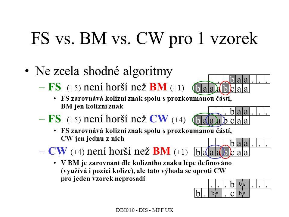 DBI010 - DIS - MFF UK FS vs.BM vs.
