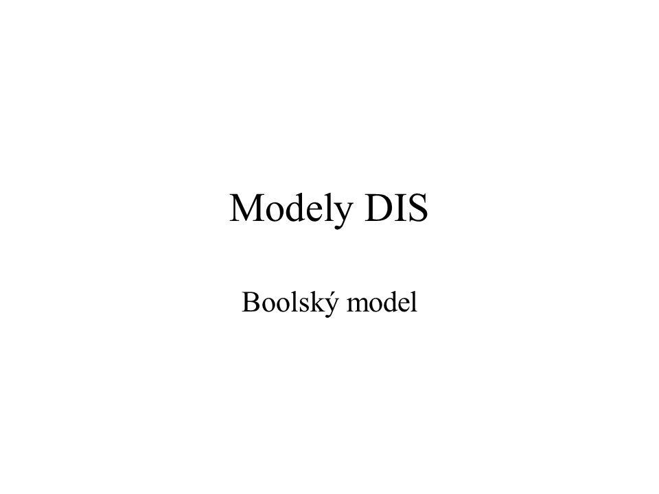 Modely DIS Boolský model