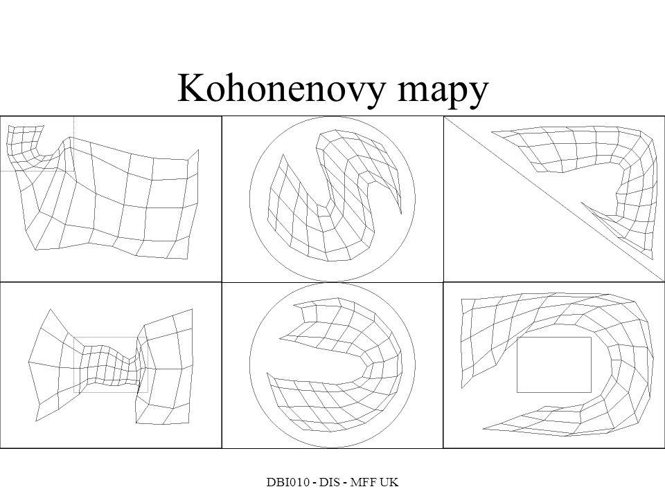 DBI010 - DIS - MFF UK Kohonenovy mapy