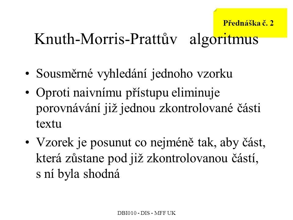 DBI010 - DIS - MFF UK Přednáška č.