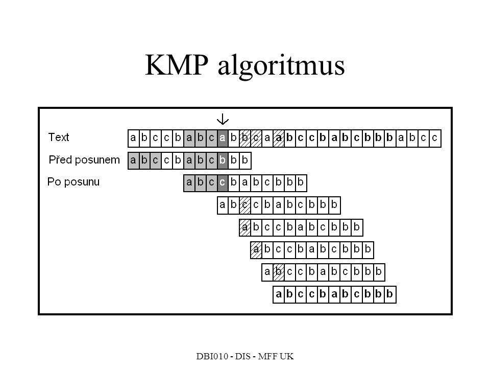 DBI010 - DIS - MFF UK KMP algoritmus