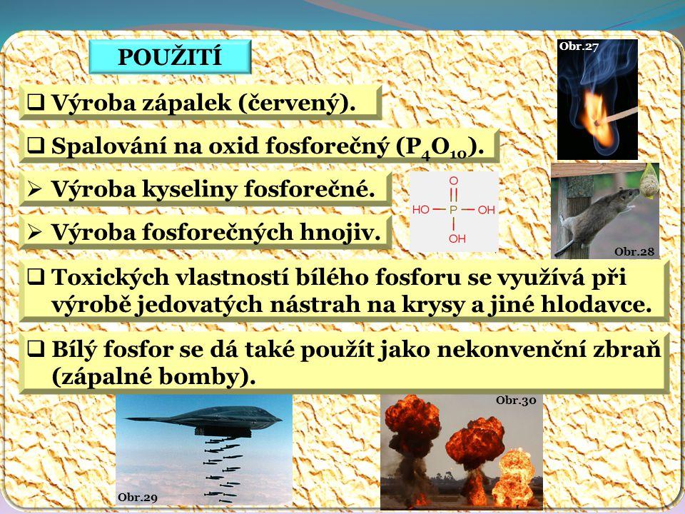 Obr.30 Obr.29 Obr.28 Obr.27 POUŽITÍ  Výroba zápalek (červený).