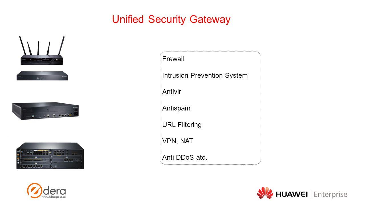 Unified Security Gateway Frewall Intrusion Prevention System Antivir Antispam URL Filtering VPN, NAT Anti DDoS atd.