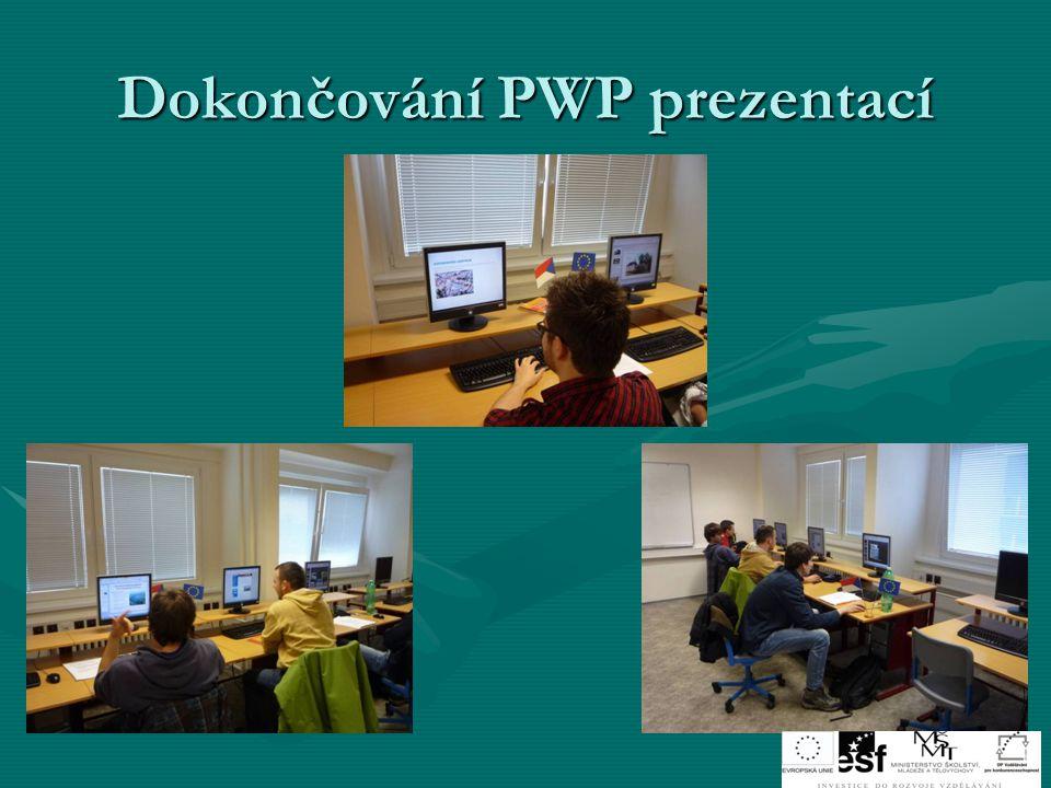Dokončování PWP prezentací