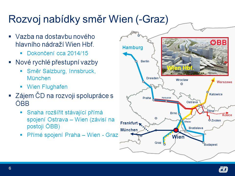 7 Potřebné projekty – infrastruktura (1)  Modernizace a zdvojkolejnění Brno – Přerov (příp.
