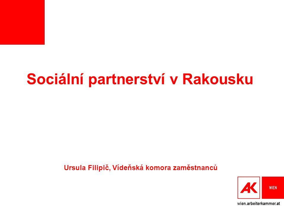 wien.arbeiterkammer.at Sociální partnerství v Rakousku Ursula Filipič, Vídeňská komora zaměstnanců