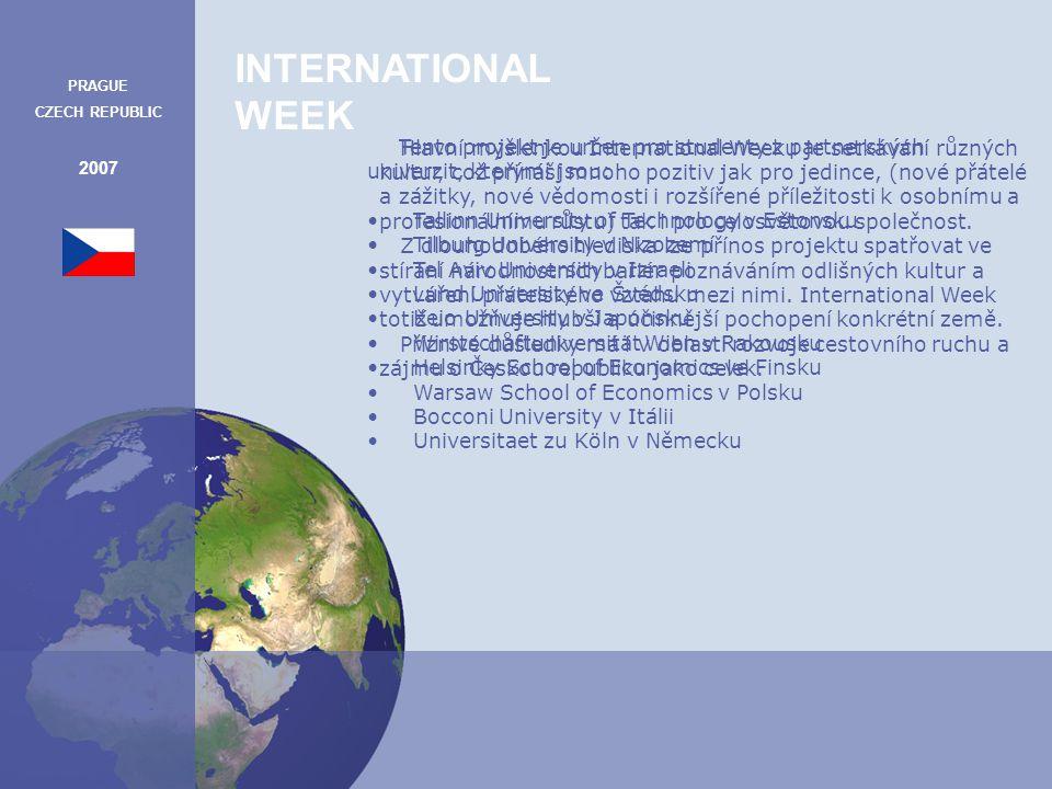 INTERNATIONAL WEEK PRAGUE CZECH REPUBLIC 2007 Informace k jednotlivým bodům programu Moravský kras Moravský kras patří mezi nejvýznamnější krasové oblasti ve Střední Evropě.
