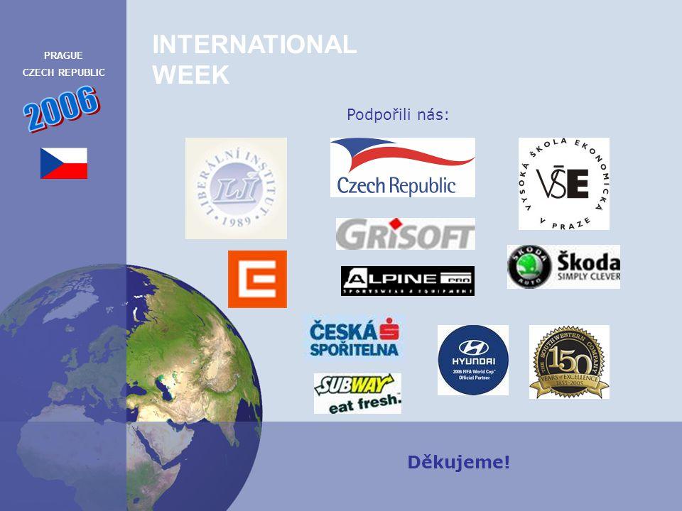 INTERNATIONAL WEEK PRAGUE CZECH REPUBLIC 2007 Podpořili nás: Děkujeme!
