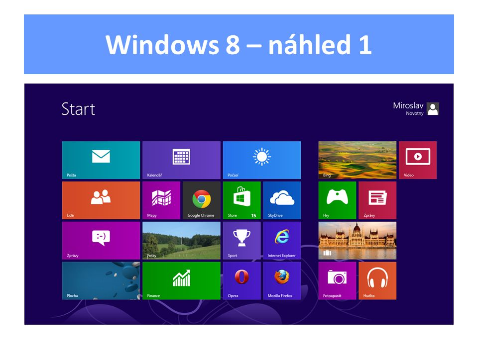 Windows 8 – náhled 1