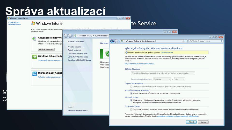 Správa aktualizací Managed Computer Microsoft Update Service Windows Intune Administrator Console Cloud Service 4 – schváleno k instalaci? 5 - schvále