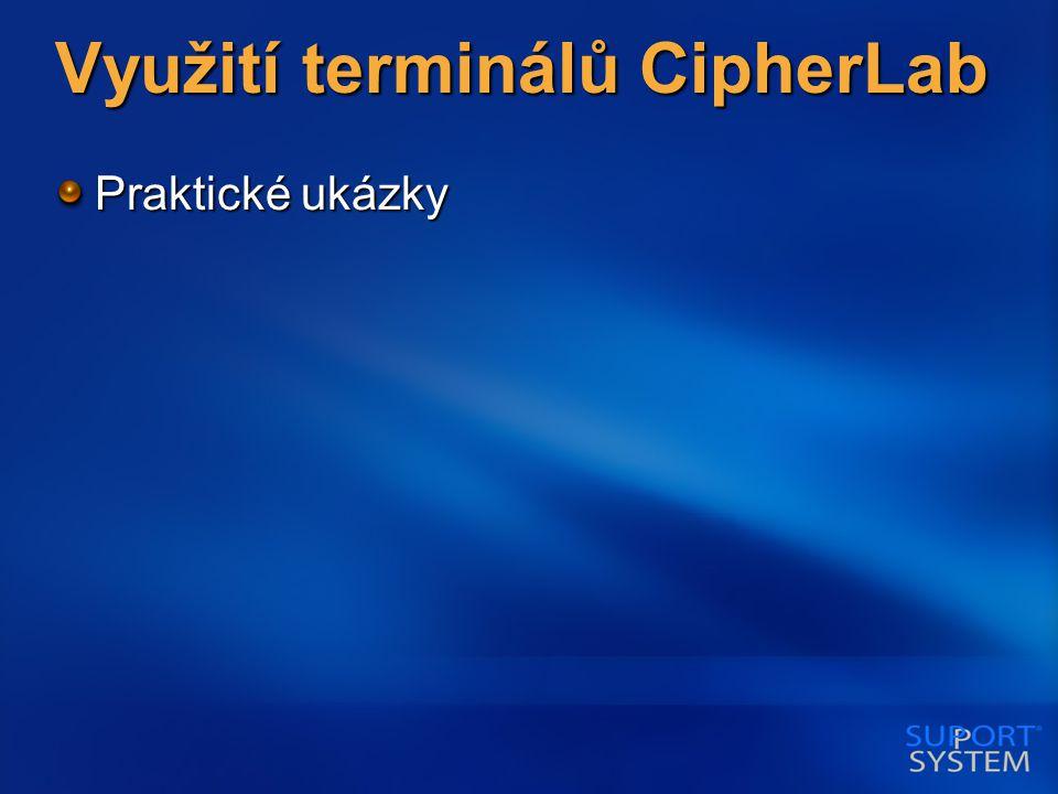 Využití terminálů CipherLab Praktické ukázky