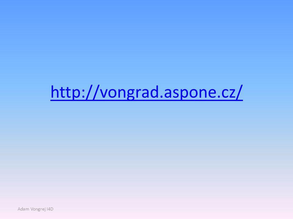 http://vongrad.aspone.cz/ Adam Vongrej I4D