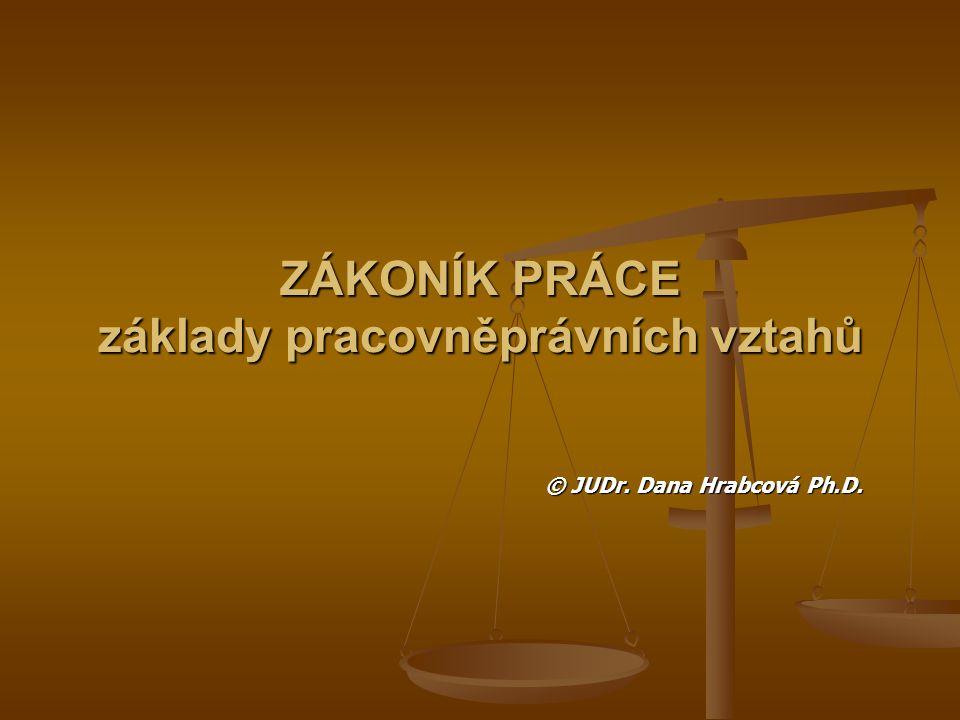Prameny právní úpravy prac.právních vztahů Zák.č.