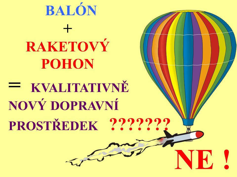 BALÓN + RAKETOVÝ POHON = KVALITATIVNĚ NOVÝ DOPRAVNÍ PROSTŘEDEK ??????? NE !